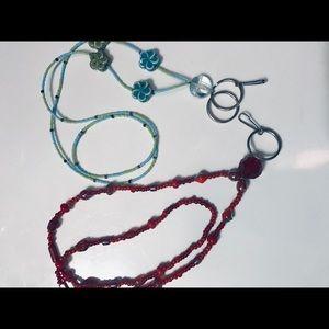 Jewelry - 2 Handmade Beaded Lanyards